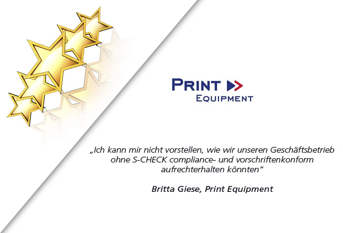 S-CHECK - Kundenmeinung Print Equipment
